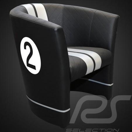 Fauteuil cabriolet Tub chair Tubstuhl Racing Inside n° 2 noir GT racing / gris