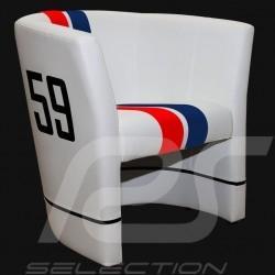 Fauteuil cabriolet Racing Inside n° 59 bleu / blanc / rouge