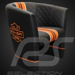 Cabrio Stuhl Racing Inside wild biker schwarz / orange