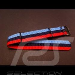 Bracelet de montre Nato Motorsport bleu / rouge / noir