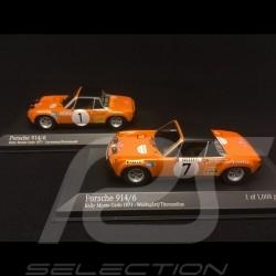Duo Porsche 914 6 Monte Carlo 1971 1/43 Minichamps 400716501 400716507