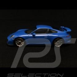 Porsche 991 GT3 voodoo blue 1/43 Minichamps CA04316084
