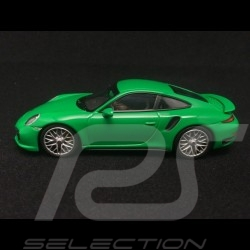 Porsche 991 Turbo S vert vipère 1/43 Minichamps CA04316061
