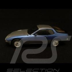 Porsche 924 turbo bicolore argent / bleu métallise 1/43 Spark MAP02020816