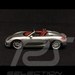 Porsche Boxster spyder 981 2015 gris métallisé 1/43 Spark S4931