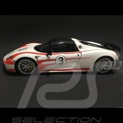 Porsche 918 Weissach Salzburg blanche / rouges 1/12 GT SPIRIT GT078
