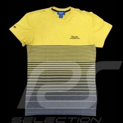 T-shirt Porsche Design Adidas licht gestreift Turbo gelb / grau - Herren - S00352