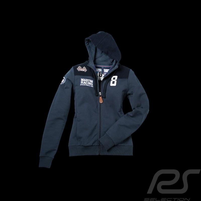 Veste hoodie Martini Racing bleu marine femme Porsche Design WAP554 Jacket sweatshirt women Jacke Sweatshirt damen