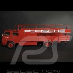 Camion MAN Diesel transporteur Porsche rouge 1/18 Schuco 450081100