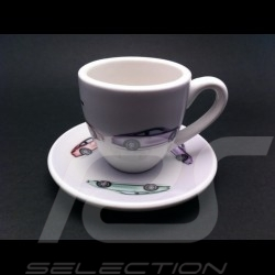 "Set of 2 expresso cups  "" 50 years Porsche 911 """