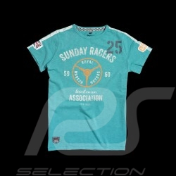 Men's T-shirt Sunday Racers turquoise blue