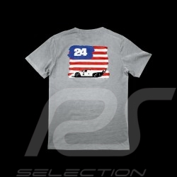 T-shirt Porsche US flag light grey Porsche design WAP982 - men