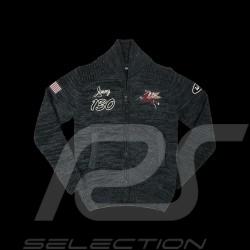 Porsche Veste tricot knit track jacket Gestrickten Jacke James Dean n° 130 Little Bastard carbone carbon homme men herren Warson