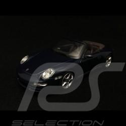 Porsche 911 type 997 Carrera 4 Cabriolet 2005 blau 1/43 Minichamps WAP02015216