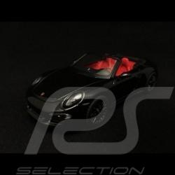 Porsche 911 type 991 Carrera 4 GTS Cabriolet schwarz 1/43 Schuco 450758700