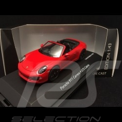 Porsche 911 type 991 Carrera 4 GTS Cabriolet Rouge Indien Guards Red Indischrot  1/43 Schuco 450758600