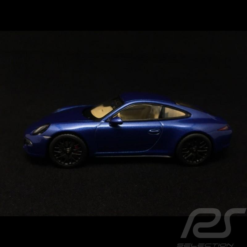 Porsche 911 type 991 Carrera 4 GTS Coupé Saphirblau 1/43 Schuco 450758100