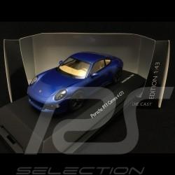 Porsche 911 type 991 Carrera 4 GTS Coupé Saphir Bleu Blue Saphirblau 1/43 Schuco 450758100