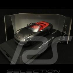 Porsche 911 type 991 Carrera GTS Cabriolet Agate Grey 1/43 Schuco 450757700