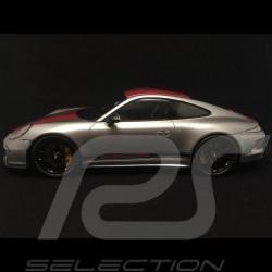 Porsche 911 type 991 R 2016 argent / rouge 1/18 Spark WAX02100023