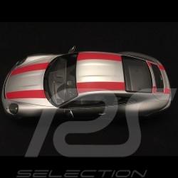 Porsche 911 type 991 R 2016 silver / red 1/18 Spark WAX02100023