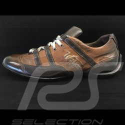 Chaussure shoes schuhe Sport style pilote vintage racing noir black schwarz / beige - homme men herren