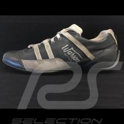 Chaussure Sport style pilote vintage racing noir / beige - homme Sneaker vintage racing driver style black / beige - men Rennfah