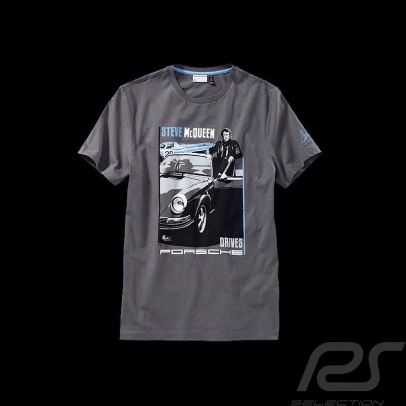 t shirt steve mcqueen grau porsche design wap946 herren. Black Bedroom Furniture Sets. Home Design Ideas