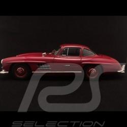 Mercedes 300 SL portes papillon gullwing doors flugelturen 1954 strawberry red rouge fraise erdbeerrot DB543 1/18 Minichamps 180