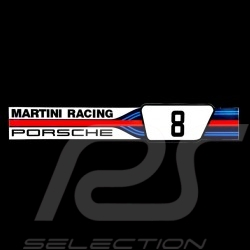 aufkleber porsche martini racing nummer 8 gro e 16 x 2 8. Black Bedroom Furniture Sets. Home Design Ideas