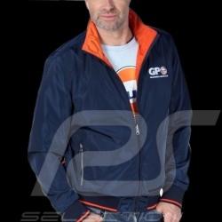 Veste Gulf réversible reverse jacket Wendejacke bleu marine navy blue marineblau / orange - homme