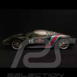 Porsche 918 Spyder pack Weissach Martini noir mat matte black matt schwarz 1/12 GT SPIRIT ZM084