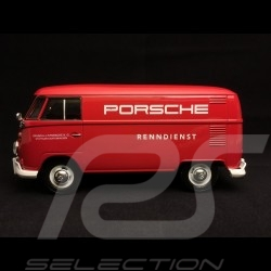 VW combi kombi T1 transporteur carrier träger transporter Porsche service course racing renndienst rouge red rot 1/24 Motormax