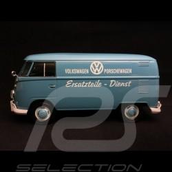 VW combi T1 Porsche carrier Diesel spare parts blue 1/24 Motormax 795567