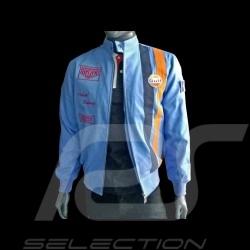 Veste Gulf jacket jacke Steve McQueen Le Mans coton cotton baumwolle bleu cobalt blue blau - homme men herren