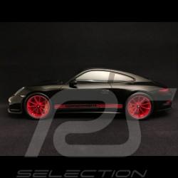 Porsche 911 R 2016 noir black schwarz / noir black schwarz 1/18 Spark WAX02100027