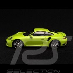 Porsche 911 type 991 Turbo S 2014 light green 1/43 Minichamps CA04316064