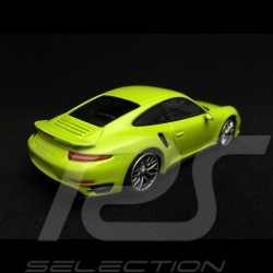 Porsche 911 type 991 Turbo S 2014 light green 1/43 Minichamps CA04316064