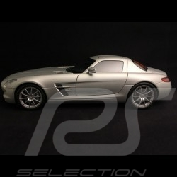 Mercedes Benz Mc Laren SLR Roadster 2007 metallic silver grey 1/18 Minichamps 100037131