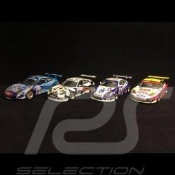 Quatuor Porsche 996 GT3 RS RSR 24h du Mans 2004 1/43 Minichamps 400046981 400046990 400046984 400046975