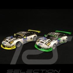Duo Porsche 911 type 991 GT3 R 24h Nürburgring 2016 n° 911 et 912 1/43 Spark MAP02018016 MAP02018116