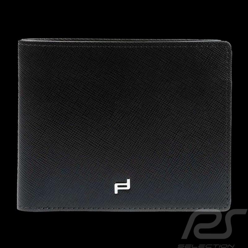 Porsche wallet money holder blue leather Saffiano H8 Porsche Design