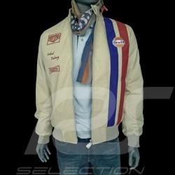 Gulf Jacke Steve Mc Queen Le Mans Baumwolle beige - herren