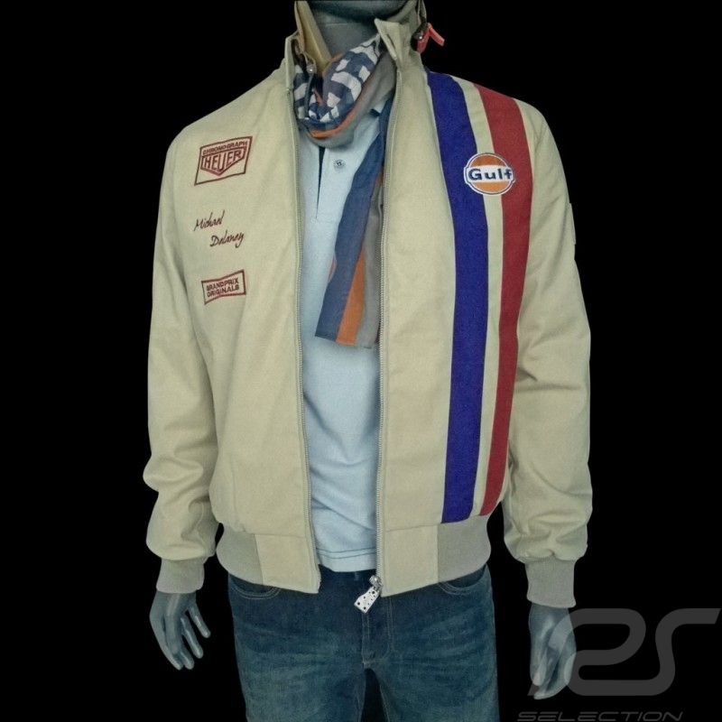 Gulf Jacket Steve Mc Queen Le Mans Beige Cotton Men Selection Rs