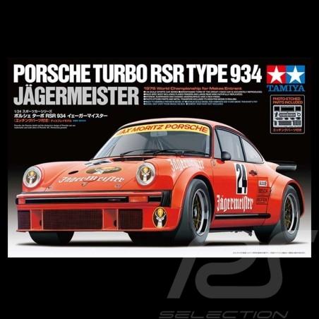 Maquette kit modellbau Porsche 934 Turbo RSR Jägermeister 1/24 Tamiya 24328