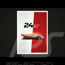 Porsche Poster Affiche Plakat 917 K Salzbourg vainqueur winner Sieger le Mans 1970 n° 23 Unique & Limited 15/014S
