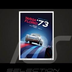 Porsche Poster Affiche Plakat 911 Carrera RSR vainqueur Targa Florio 1973 Unique & Limited 16015