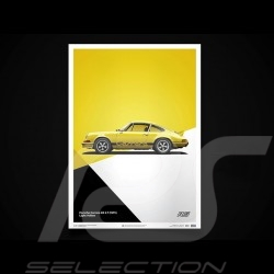 Porsche Poster Affiche Plakat 911 Carrera RS 1973 Jaune clair light yellow lichtgelb