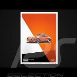 Porsche Poster Affiche Plakat 911 Carrera RS 1973 Orange Gulf