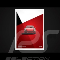 Porsche Poster Affiche Plakat 911 Carrera RS 1973 rouge Bahia red rot